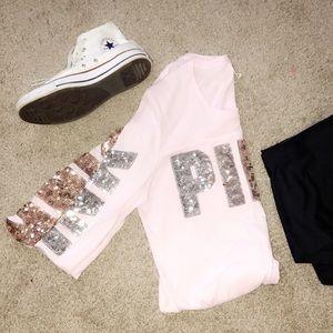 Victoria Secret Long Sleeve Sparkle Shirt